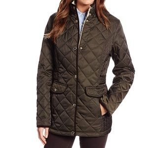 Olive Green Quilted Jacket - looks like Barbour